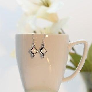 Set of 2 Handmade Sterling Silver Opal Earrings (India)