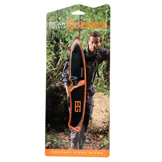 Gerber Blades BG Survival Series Compact Fixed Blade, Black