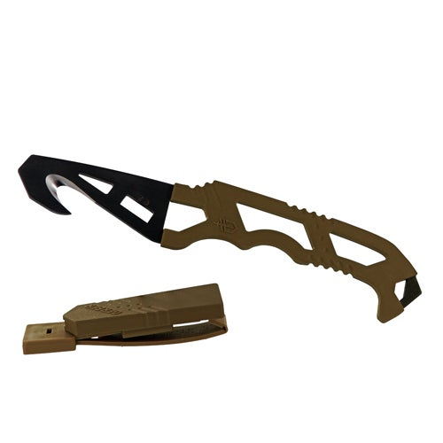 Gerber Blades Crisis Hook Knife - TAN 499, Box