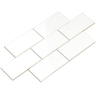 Giorbello White Ceramic 3x6 Subway Tiles (Case of 14.5 Sq Ft)