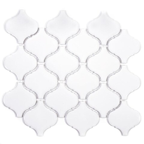Giorbello White Porcelain 3-inch Arabesque Tile (13.35 Sq Ft)