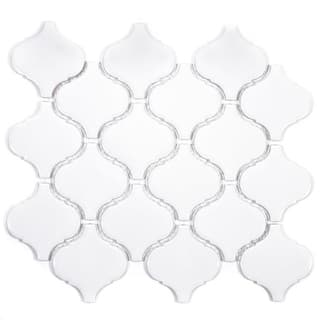 Giorbello White Porcelain 3-inch Arabesque Tile (13.35 Sq Ft)|https://ak1.ostkcdn.com/images/products/14207208/P20801326.jpg?impolicy=medium