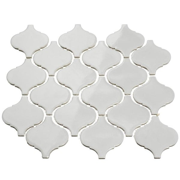 Giorbello Light Grey Porcelain 3-inch Arabesque Tile (13.35 Sq Ft)