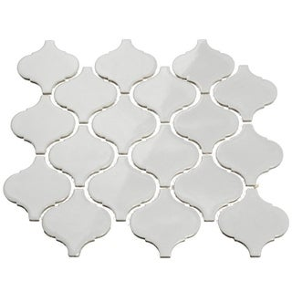 Giorbello Light Grey Porcelain 3-inch Arabesque Tile (13.35 Sq Ft)