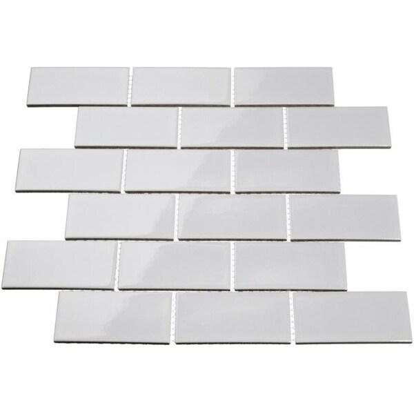 Giorbello Light Grey Porcelain 2x4 Subway Tile (16.5 Sq Ft)