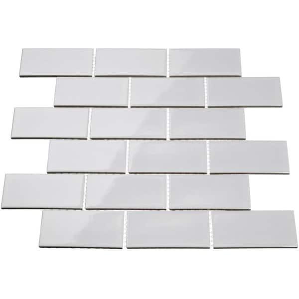 Giorbello Light Grey Porcelain 2x4 Subway Tile 16 5 Sq