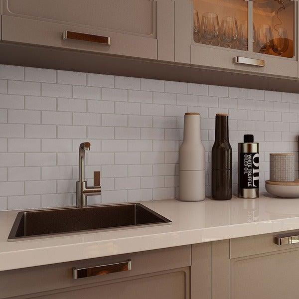 Giorbello Light Grey Porcelain 2x4 Subway Tile 16 5 Sq Ft