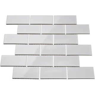 Giorbello Light Grey Porcelain 2x4 Subway Tile (16.5 Sq Ft)