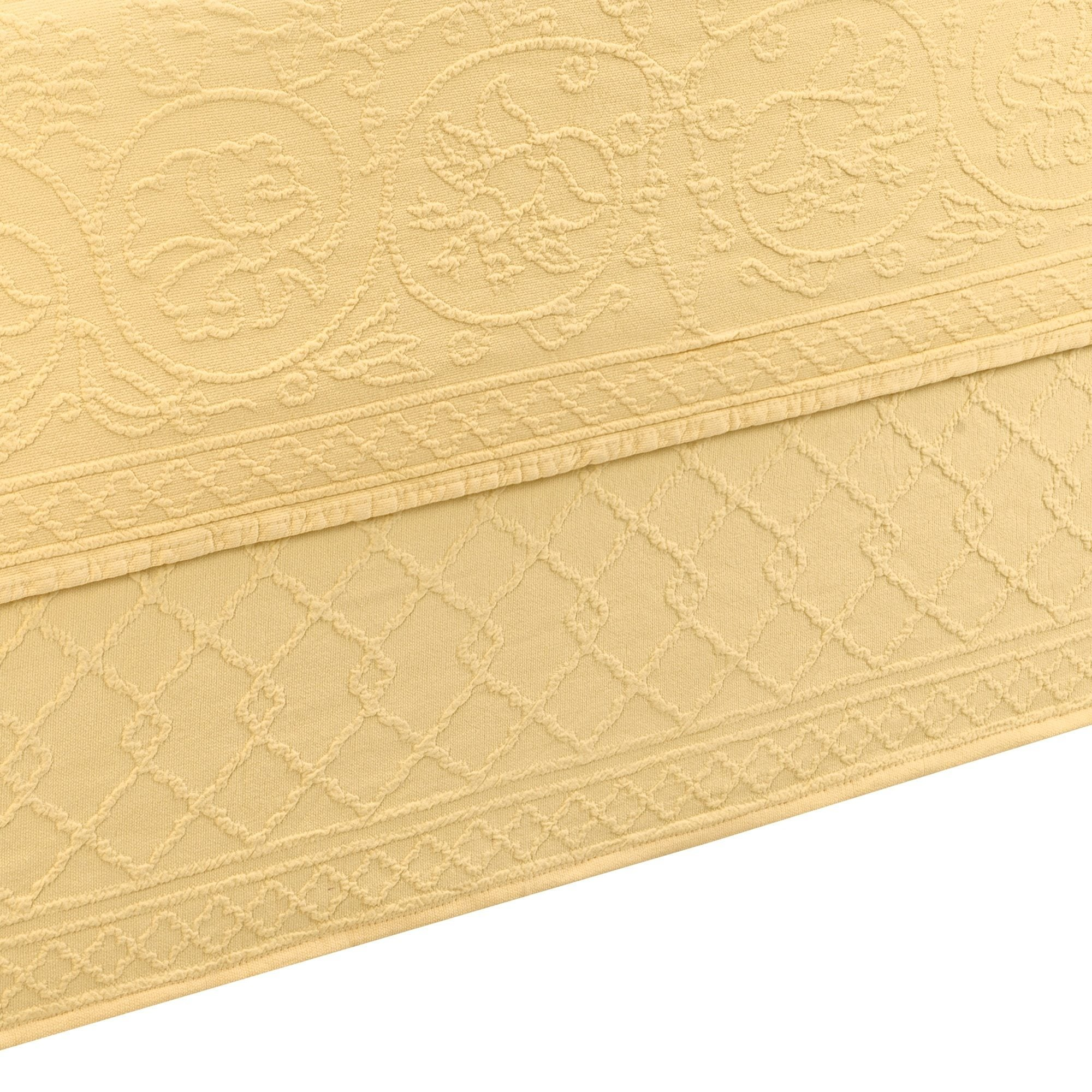 """Williamsburg Richmond King Size Matelasse Bedskirt 78""""x80"""" With 15"""" Drop Lenght"""