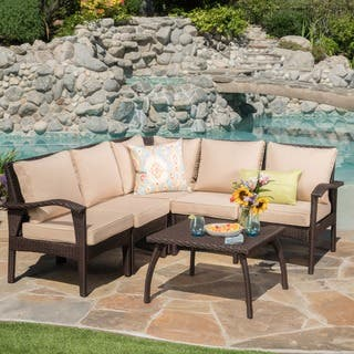 Honolulu Outdoor V-Shape Wicker Seating Set with Cushions by Christopher Knight Home|https://ak1.ostkcdn.com/images/products/14207648/P20801685.jpg?impolicy=medium