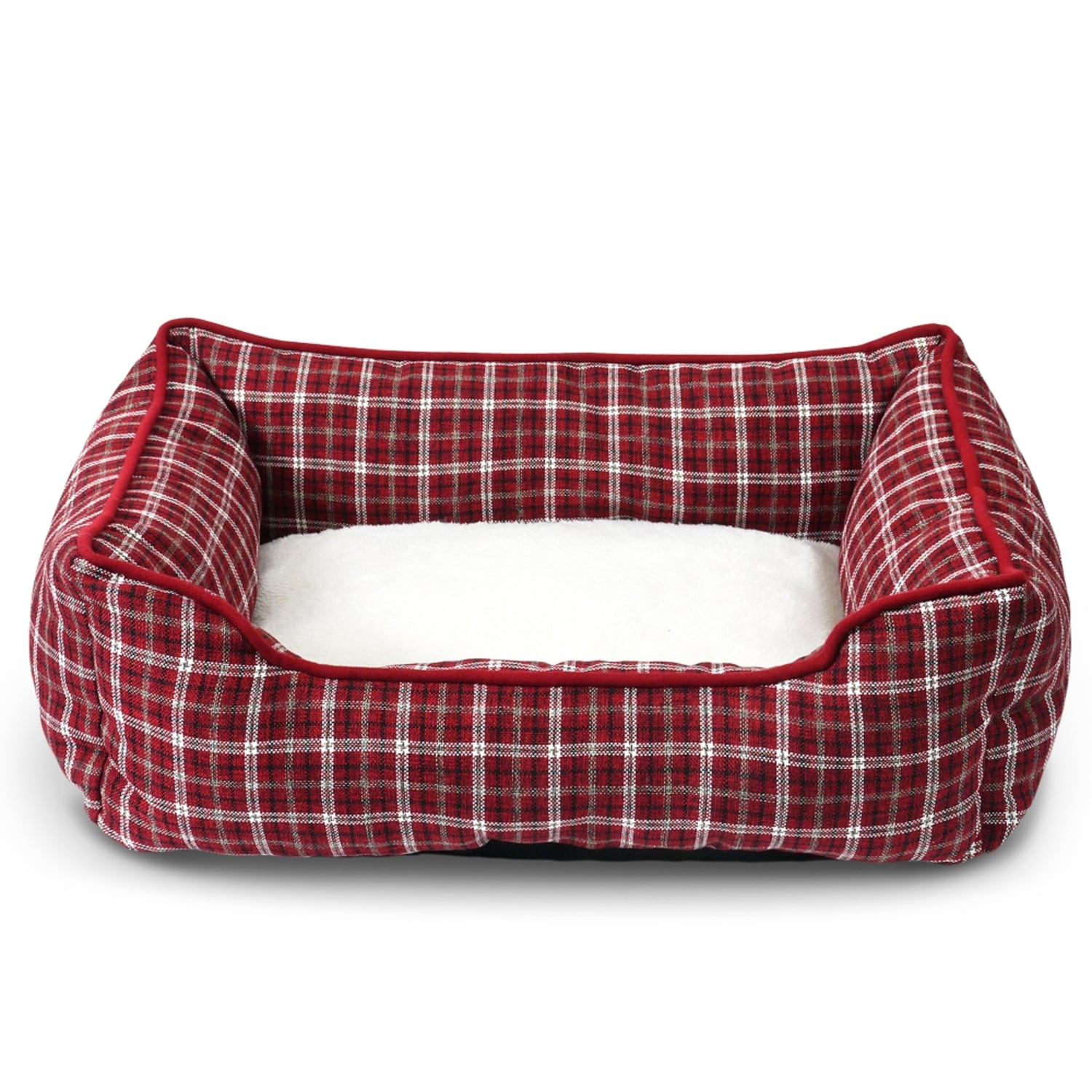 Fluffy Paws Clic Pet Plaid Bed