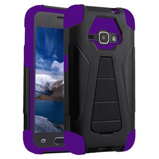 Insten Dual Layer Hybrid Stand PC/ Silicone Case Cover for Samsung Galaxy E5