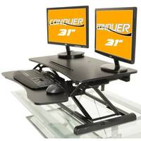 Desktop Tabletop Standing Desk Adjustable-height Sit-to-stand Ergonomic Workstation - Black