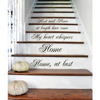 Stair Quotes Stairway Quote Rest And Peace Home Family Home Decor Staircase  Sticker Decall size 44x60 Color Black - 44 x 60
