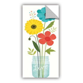 ArtAppealz Michael Mullan's Seaside Bouquet V Mason Jar, Removable Wall Art Mural