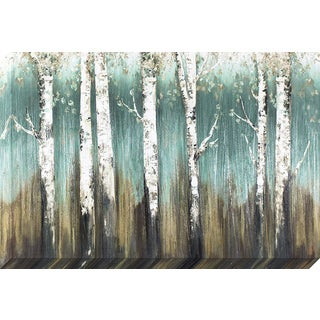 Decor Therapy 'Blue Landscape Custom' Stretched Canvas Wall Art with Brushstroke Texture