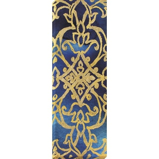 Decor Therapy Golden Damask Wrapped Canvas Wall Art