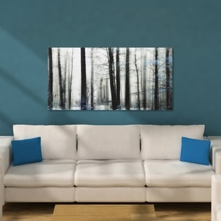 Decor Therapy 'Trees' Black/Blue Stretched Canvas Wall Art