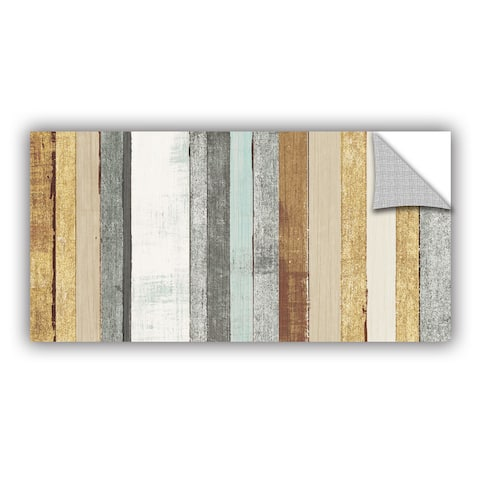 ArtAppealz Michael Mullan's Beachscape VII Gold Neutral, Removable Wall Art Mural