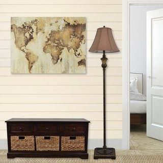 Decor Therapy Map of the World Stretched Canvas Wall Art