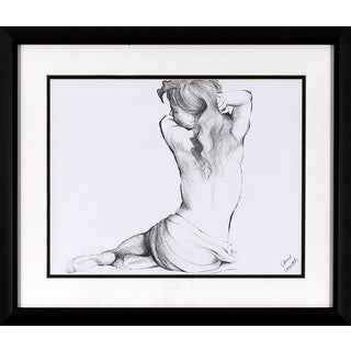 Decor Therapy Framed Sketched Figure Wall Art