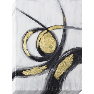 Decor Therapy 'Gold & Black Gestures' Oil-painted Canvas Wall Art