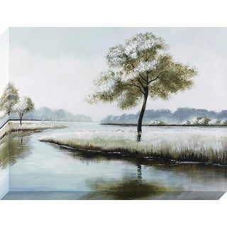 Decor Therapy Tranquil Riverbed Stretched Canvas Wall Art