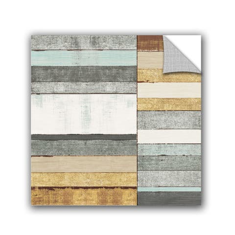 ArtAppealz Michael Mullan's Beachscape II Gold Neutral , Removable Wall Art Mural