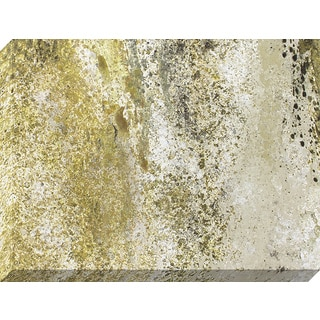 'Gold and Granite' Stretched Canvas Art With Hand-painted Accents