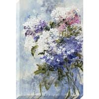'Lilac Bouquet' Multicolored Stretched Canvas Artwork