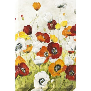 My Poppy Garden Stretched Canvas Wall Art with Painted Accents