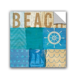 ArtAppealz Michael Mullan's Beachscape Collage IV, Removable Wall Art Mural