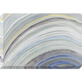 Agate Waves Stretched Canvas Wall Art