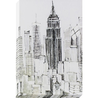 Decor Therapy New York Lines Sketched Canvas Wall Art