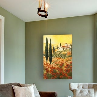 'Warm Tuscan Sunrise' Stretched Canvas Wall Art