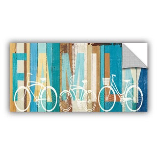 ArtAppealz Michael Mullan's Beachscape Bicycle Family, Removable Wall Art Mural