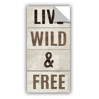ArtAppealz Michael Mullan's Live Wild and Free, Removable Wall Art Mural