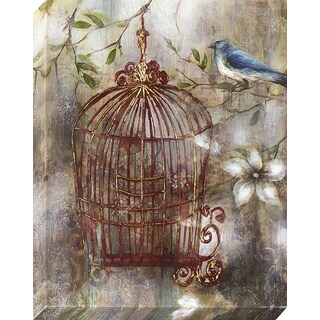 Decor Therapy 'Charming Birdcage' Oil Painted Canvas (22 x 28)