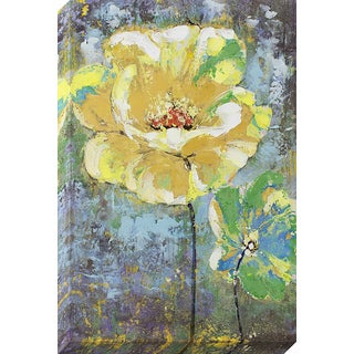 Decor Therapy 'Yellow Painted Flower' Oil-painted Canvas Wall Art