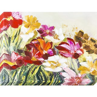 Decor Therapy 'Field of Flowers' Oil-painted Canvas Art