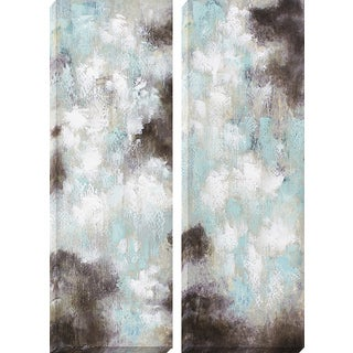 Decor Therapy Dawn and Dusk Oil-painted Canvas Wall Art (Set of 2)