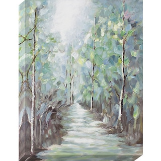 'Tree-lined Path' Oil-painted Canvas