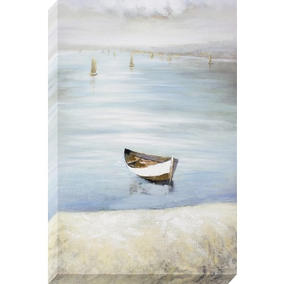 Decor Therapy 'Lonely Row Boat' Oil-painted Canvas Wall Art