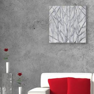 Decor Therapy 'Metallic Trees' Oil Painted Canvas Artwork