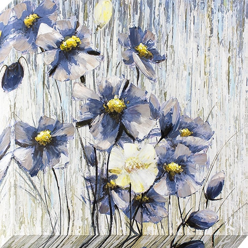 Decor Therapy Periwinkle Flowers Oil-painted Canvas Wall Art