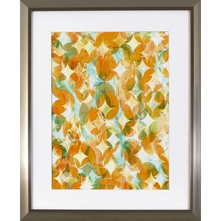Decor Therapy 'Overlapping Orange' Stainless Steel Finish Frame Wall Art