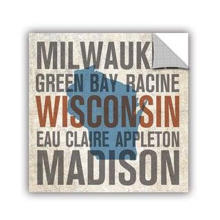 ArtAppealz Michael Mullan's Wisconsin, Removable Wall Art Mural