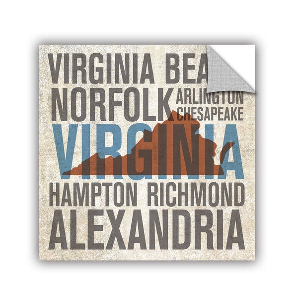 ArtAppealz Michael Mullan's Virginia, Removable Wall Art Mural
