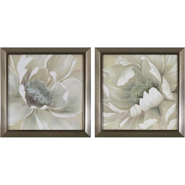 Shop Decor Therapy Antiqued White Flowers in Stainless Steel Finish ...