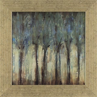 Decor Therapy 'Teal Trees Landscape' Distressed Silver Finish Frame Wall Art